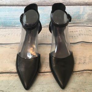Franco Sarto Diamana Black Pointed Toe Kitten Heel